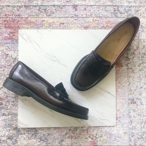 Bass | Weejuns Bordeaux Leather Loafers Shoes 7.5